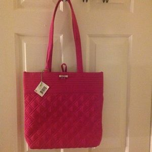Vera Bradley Hot Pink Small Tote Bag